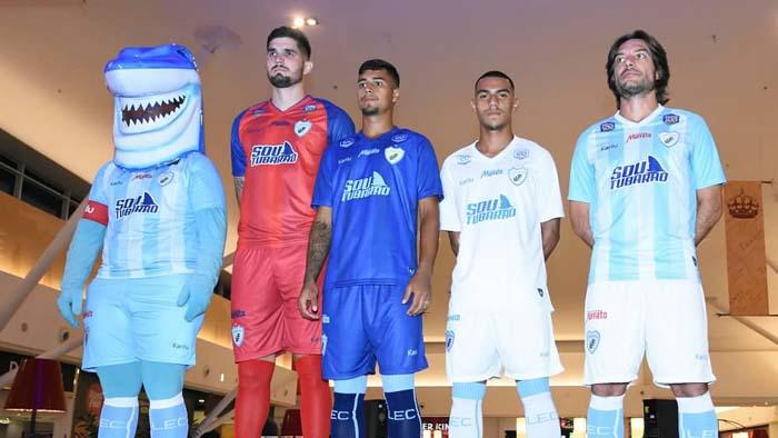 Apresentados os novos uniformes do Tubarão para a temporada 2019 ... 08dec5545f4c9