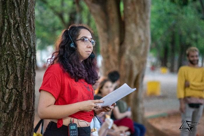 Heitor Bonfim/FEIA - Audiodescrição do espetáculo de rua 'A Vaqueira' no FEIA (Festival do Instituto de Artes)