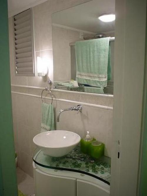 Mesmo pequeno, banheiro pode ser bonito e organizado  Casa  Bonde O seu po -> Banheiro Pequeno Com Maquina De Lavar