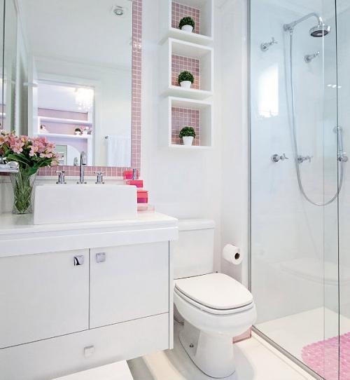 decoracao lavabo branco:Quer um banheiro prático e organizado? Aposte nos nichos – Casa e