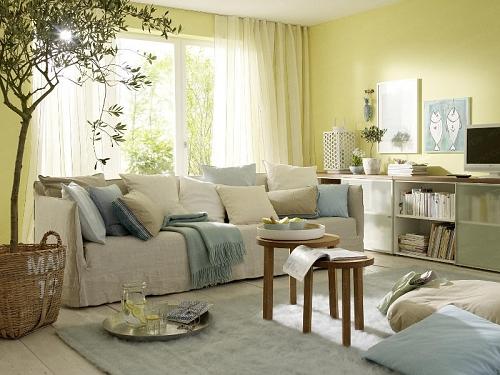 Tons past is conferem leveza e luminosidade decora o - Wohnideen wohnzimmer wandgestaltung ...