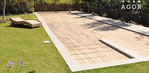 Deck de madeira vira piso de piscina com apenas um toque for Piscinas para armar
